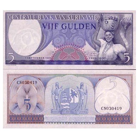 Surinam - Pk Nr. 120-5 Gulden beachten Sie