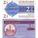 Billets banque Surinam Pk N° 156 - 2,5 Dollar