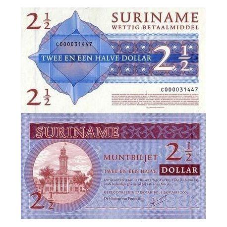 Surinam - Pk Nr. 156 - 2.5 Dollar ticket