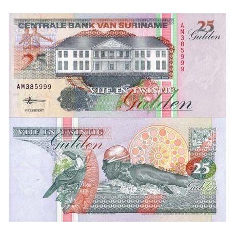 SURINAME - Pk # 138 - Ticket 25 Gulden