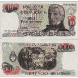 Billets de banque Argentine Pk N° 313 - 10 Pesos