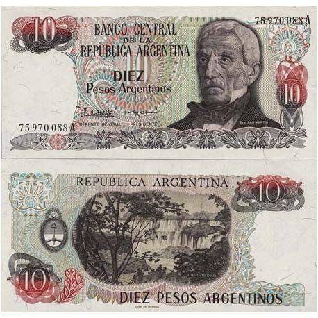 Argentinien - Pk Nr. 313-10 Pesos banknote