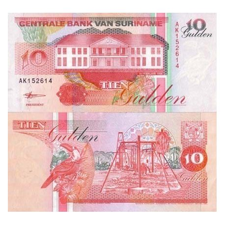 SURINAME - Pk # 137 - Ticket 10 Gulden