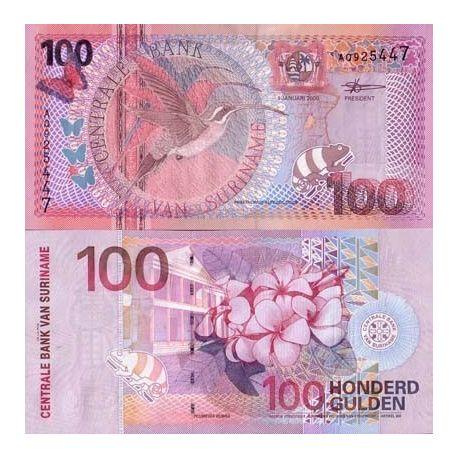 Billets de collection Billet de banque SURINAM Pk N° 149 - 100 Gulden Billets du Surinam 19,00 €