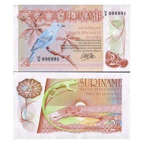 Billet de collection Surinam Pk N° 119 - 2 Gulden