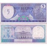 Banknoten Sammlung Suriname Pick Nummer 125 - 5 Gulden