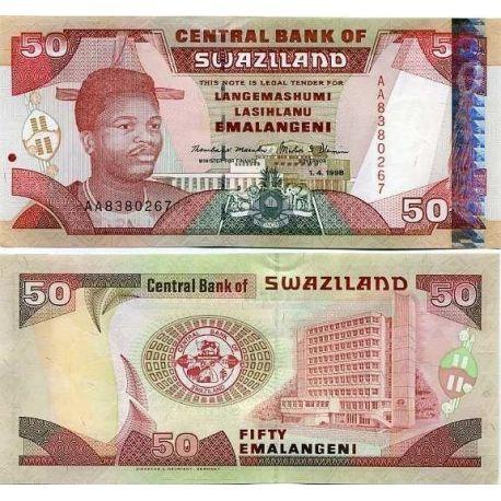 Billets banque Swaziland Pk N° 26 - 50 Lilangeni