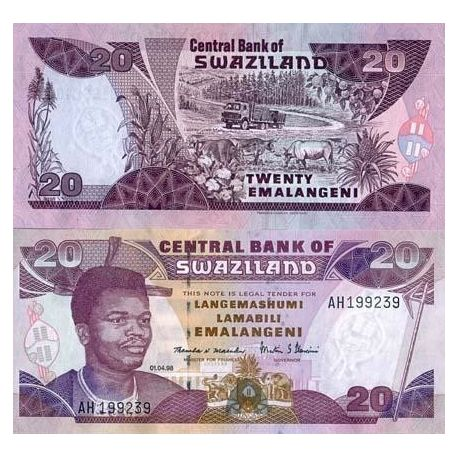 Billets de collection Billet de collection Swaziland Pk N° 25 - 20 Lilangeni Billets du Swaziland 11,00 €