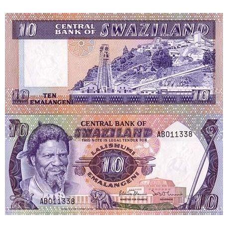 Swaziland - Pk: # 10 - Ticket Lilangeni 10