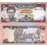 Banknoten Sammlung Swaziland Pick Nummer 13 - 2 Lilangeni