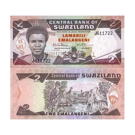 Billets de collection Billets collection Swaziland Pk N° 13 - 2 Lilangeni Billets du Swaziland 10,00 €