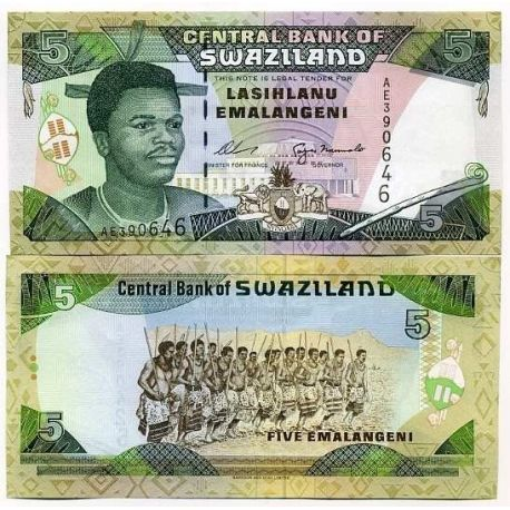 Billets de collection Billet de collection Swaziland Pk N° 23 - 5 Lilangeni Billets du Swaziland 10,00 €