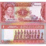 Billet de banque Swaziland Pk N° 1 - 1 Lilangeni