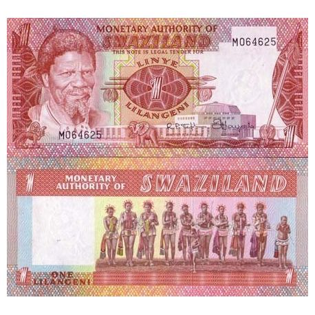 Billets de collection Billet de banque Swaziland Pk N° 1 - 1 Lilangeni Billets du Swaziland 8,00 €