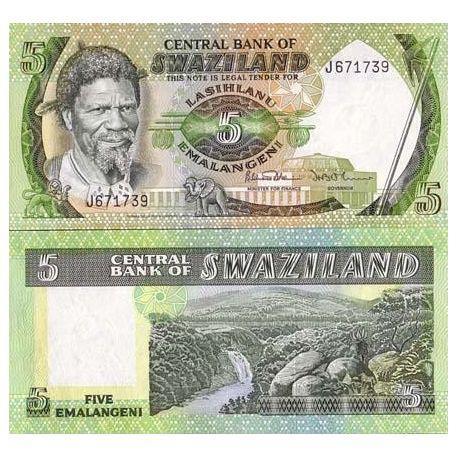 Swaziland - Pk No. 9 - 5 Lilangeni ticket