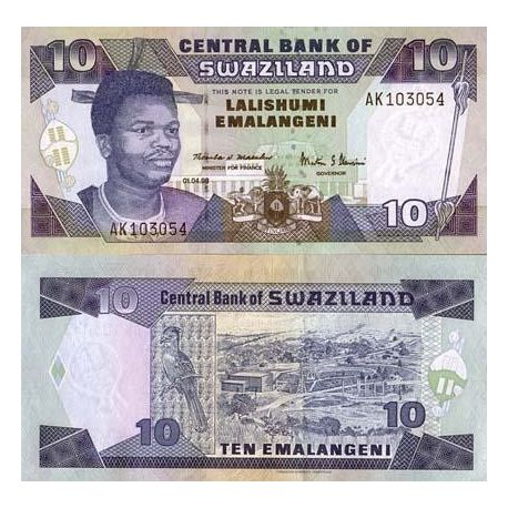 Billets de collection Billet de banque Swaziland Pk N° 24 - 10 Lilangeni Billets du Swaziland 17,00 €