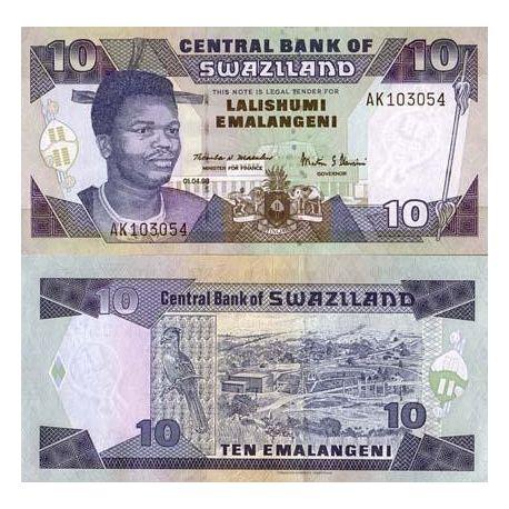 Swaziland - Pk N° 24 - Billet de 10 Lilangeni
