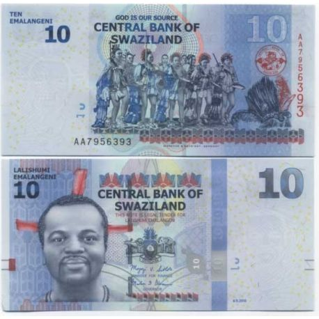 Billets de collection Billet de collection Swaziland Pk N° 36 - 10 Lilangeni Billets du Swaziland 5,00 €