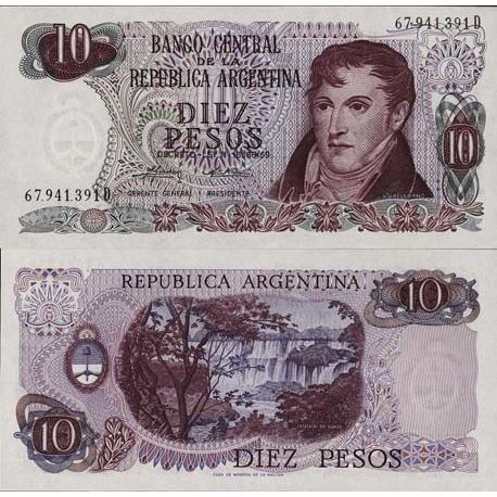 Billets de collection Billets collection Argentine Pk N° 295 - 10 Pesos Billets d'Argentine 4,00 €
