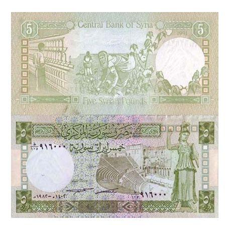 Billets de collection Billet de collection Syrie Pk N° 100 - 5 Pounds Billets de Syrie 3,00 €