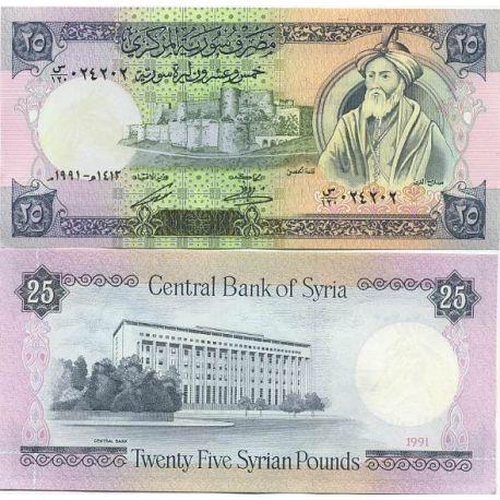 Billets de collection Billet de banque Syrie Pk N° 102 - 25 Pounds Billets de Syrie 4,00 €