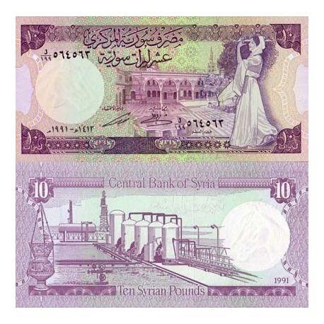 Billets de collection Billets de banque Syrie Pk N° 101 - 10 Pounds Billets de Syrie 3,00 €