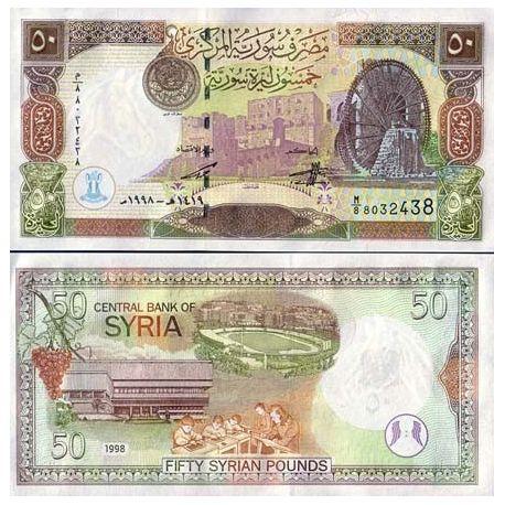 Syrie - Pk N° 107 - Billet de 50 Pounds