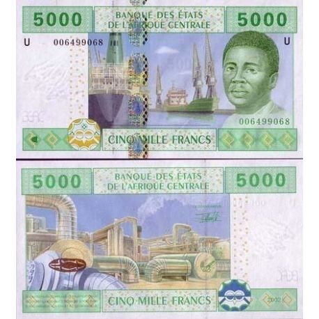 Afrique Centrale Cameroun - Pk N° 209 - Billet de 5000 Francs