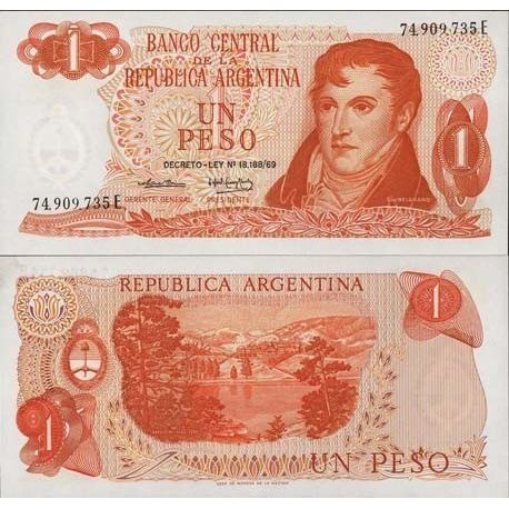 Billets de collection Billet de collection Argentine Pk N° 293 - 1 Peso Billets d'Argentine 4,00 €