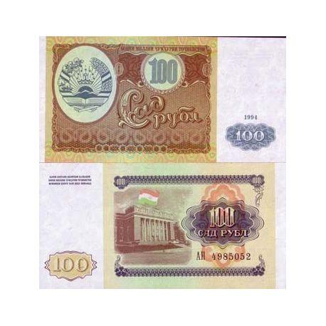 Tadjikistan - Pk N° 6 - Billet de 100 Rubles