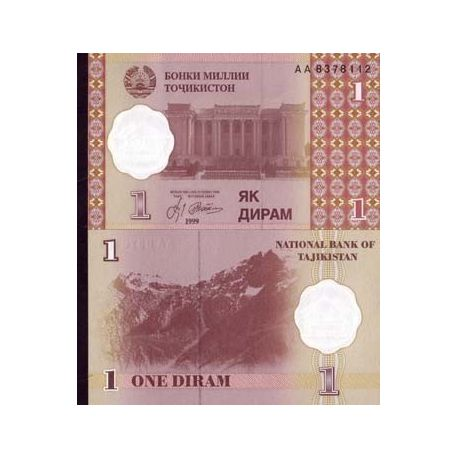 Billet de collection Tadjikistan Pk N° 10 - 1 Diram
