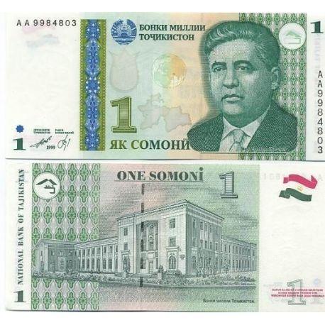 Billets de collection Billets de banque Tadjikistan Pk N° 14 - 1 Somoni Billets du Tadjikistan 2,00 €