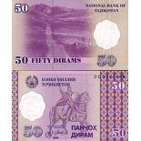 Billet de banque Tadjikistan Pk N° 13 - 50 Dirams