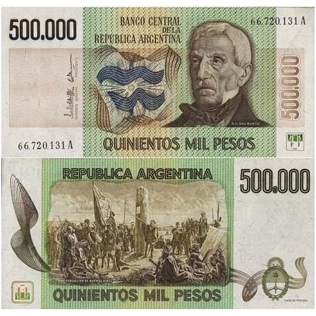 Billets de collection Billet de banque Argentine Pk N° 309 - 500000 Pesos Billets d'Argentine 19,00 €