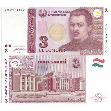 Tadjikistan - Pk N° 999 - Billet de 3 Rubles