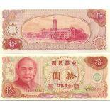 Colección de billetes Taiwán Pick número 1984 - 100 Dollar