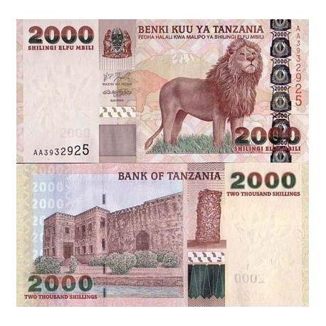 Billet de collection Tanzanie Pk N° 37 - 2000 Shilings