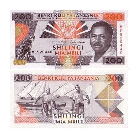 Tanzanie - Pk N° 25 - Billet de 200 Shilings