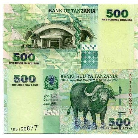 Tanzanie - Pk N° 35 - Billet de 500 Shilings
