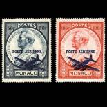 Francobollo di Monaco posta aerea N° 13/14 nove senza cerniera