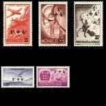 Francobollo di Monaco posta aerea N° 8/12 nove senza cerniera