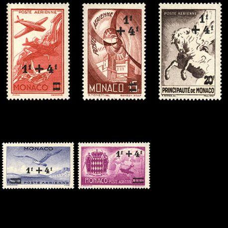 Timbre Monaco PA N° 8/12 neuf sans charnière