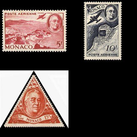Timbre Monaco PA N° 19/21 neuf sans charnière