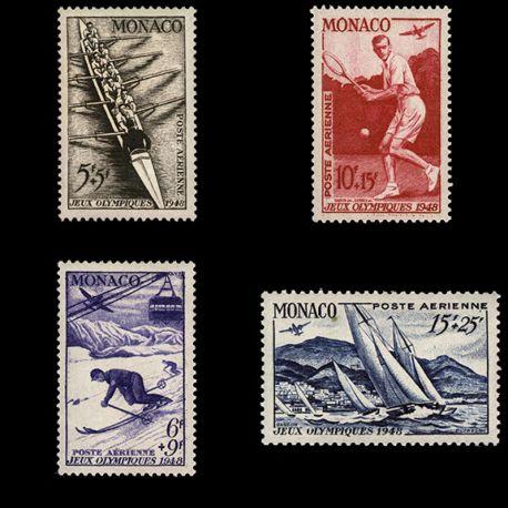 Timbre Monaco PA N° 32/35 neuf sans charnière
