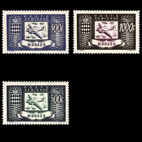 Timbre Monaco PA N° 42/44 neuf sans charnière