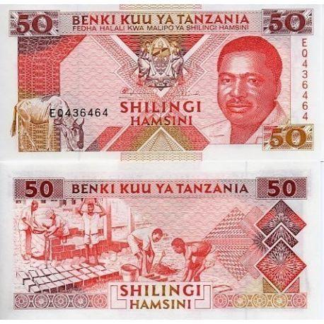 Tanzanie - Pk N° 23 - Billet de 50 Shilings