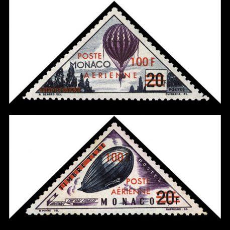 Timbre Monaco PA N° 61/62 neuf sans charnière