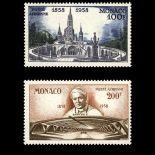 Francobollo di Monaco posta aerea N° 69/70 nove senza cerniera