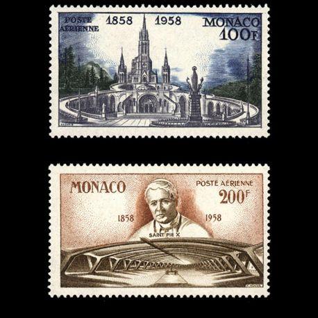 Timbre Monaco PA N° 69/70 neuf sans charnière