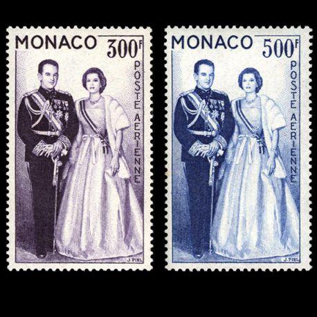 Timbre Monaco PA N° 71/72 neuf sans charnière